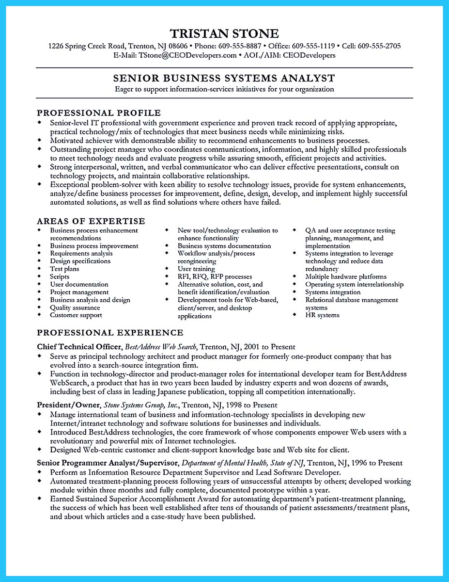 cover letter information systems analyst