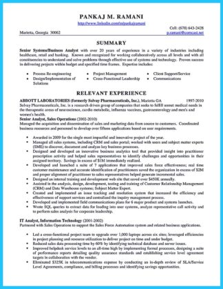business systems analyst resume tips