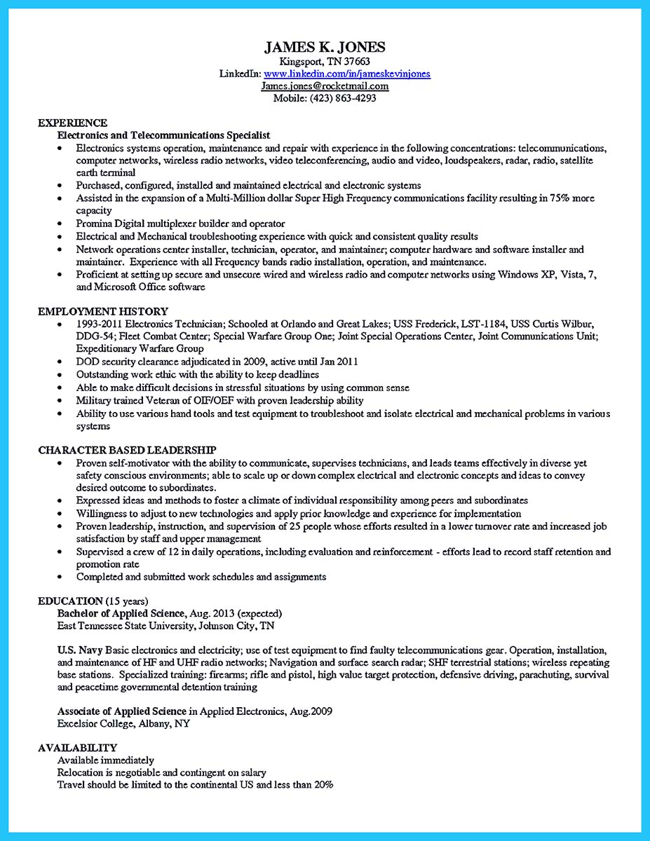 how to make cable technician resume that is really perfect