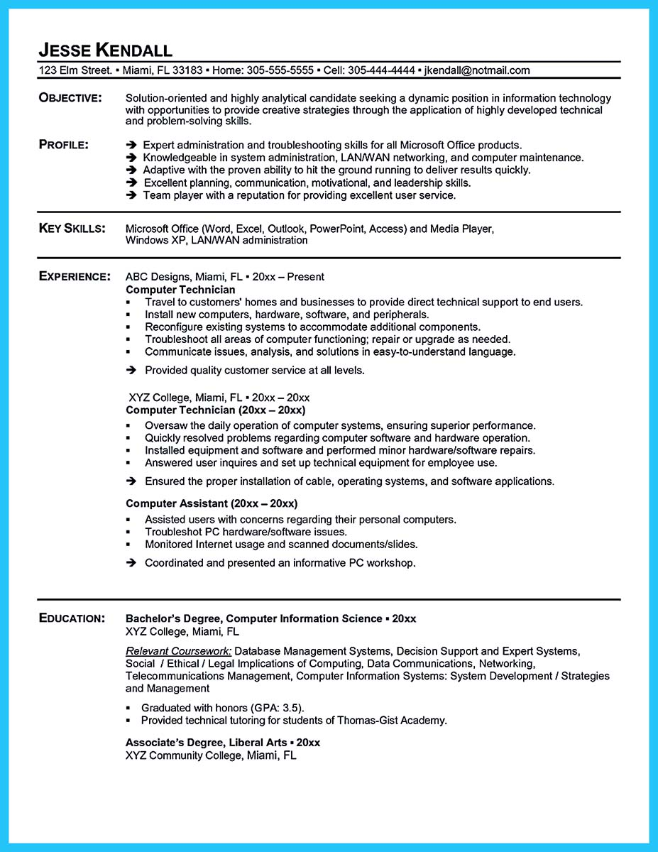 cable splicing technician resume