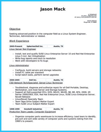 cable technician skills for resume