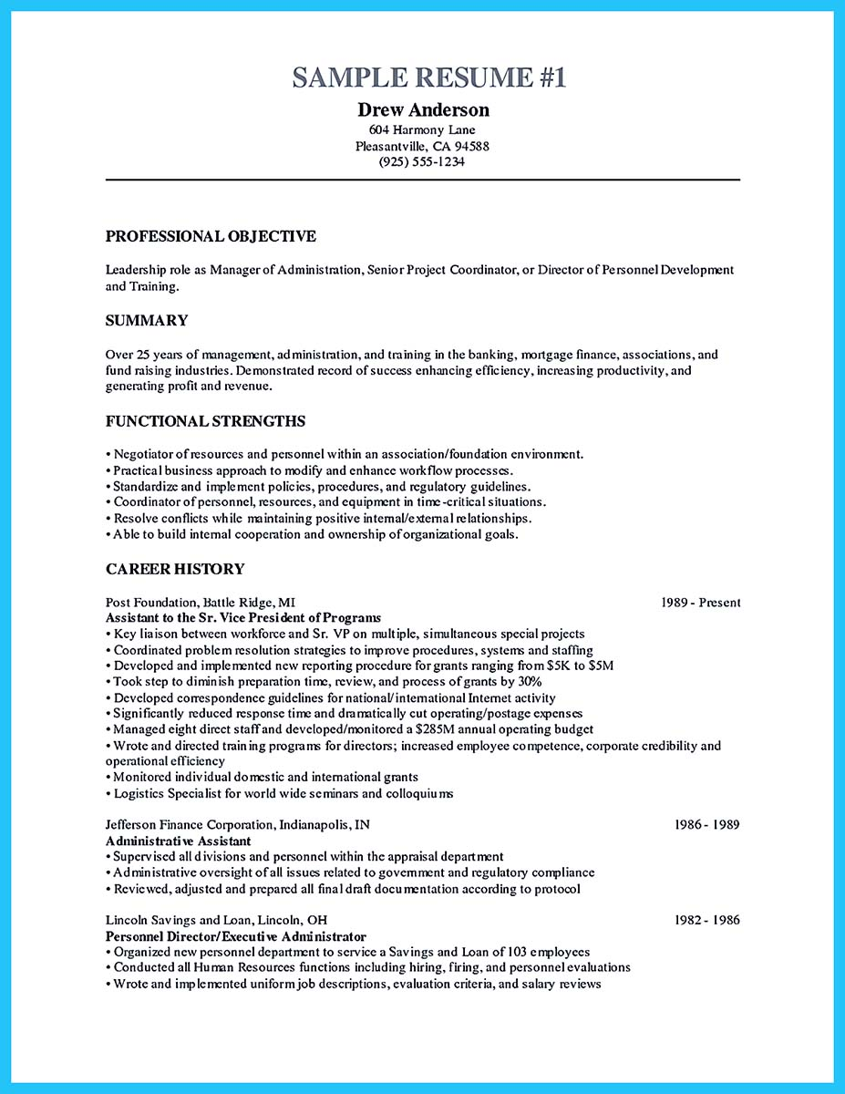 objective call center resume