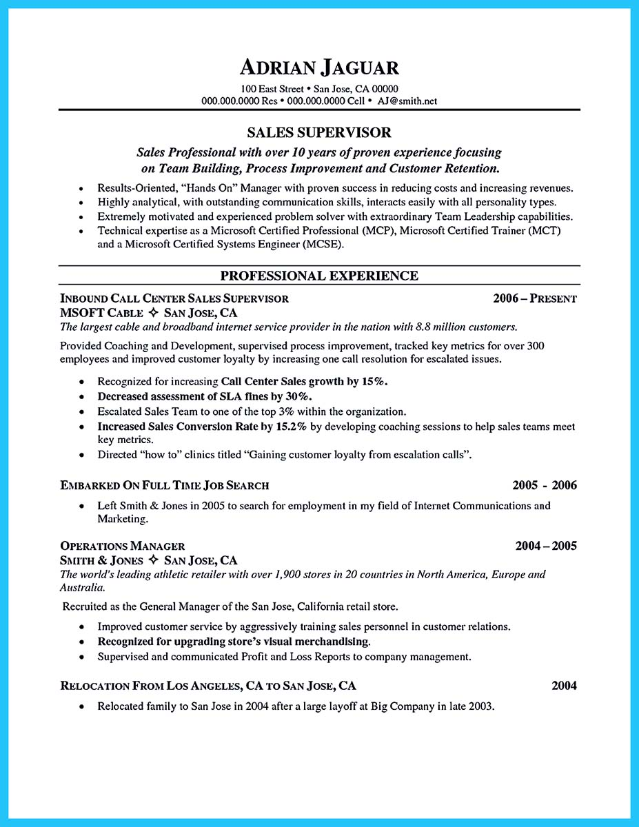 call center resume skills list
