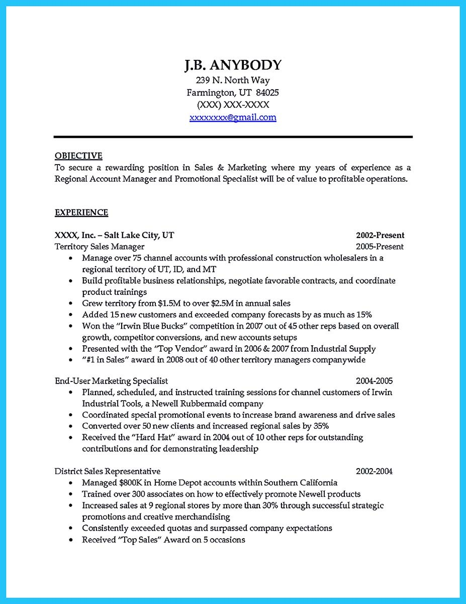 car sales cv resume