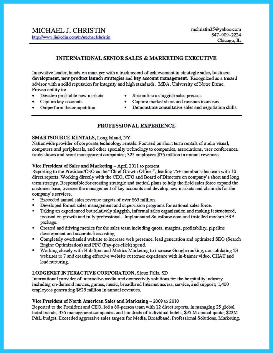 consultative sales resume