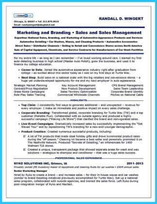 car sales resume template
