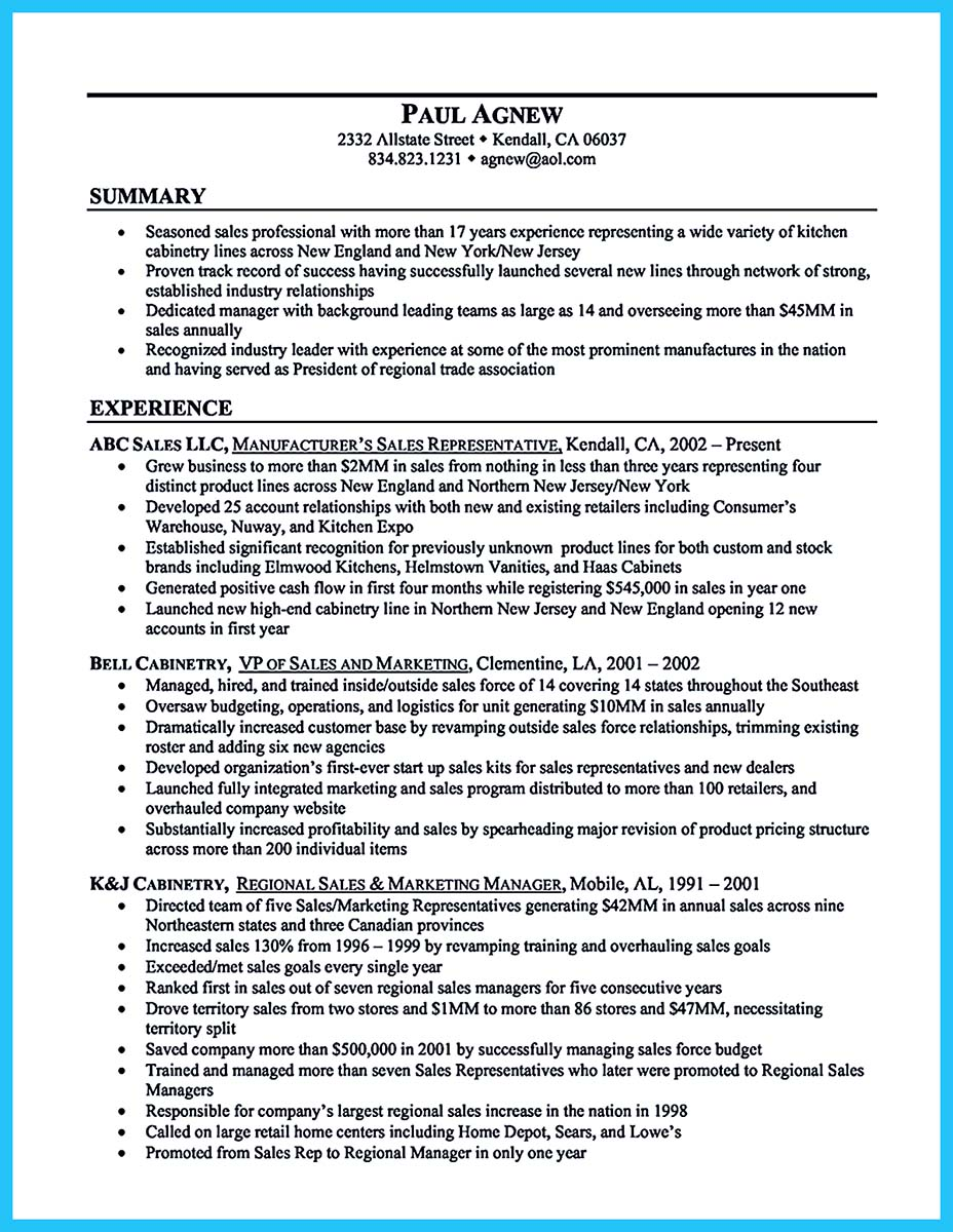 Example of summary in resume