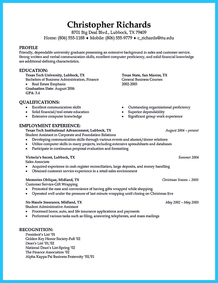 Resume for car salesman examples