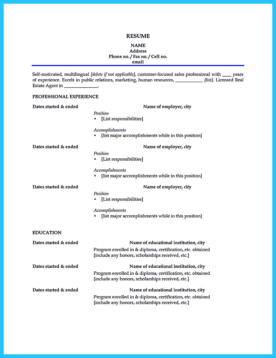 Car Salesman Education Resume Cv Cover Letter