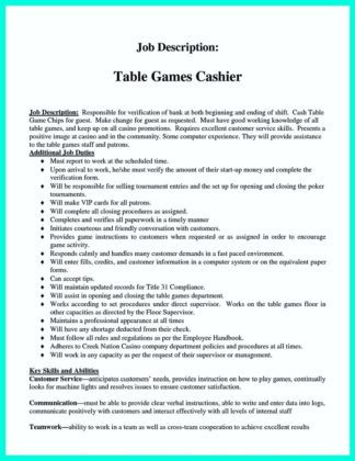 cashier resume job description and cashier skills on resume