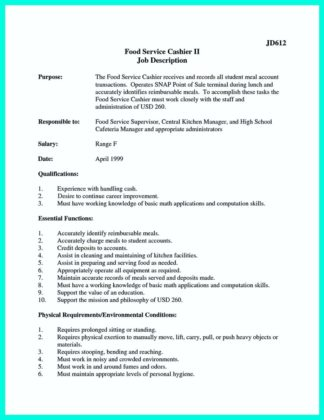 cashier resume template and cashier objective resume examples