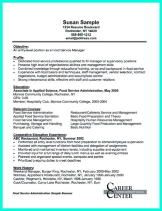 catering director resume and catering event manager resume