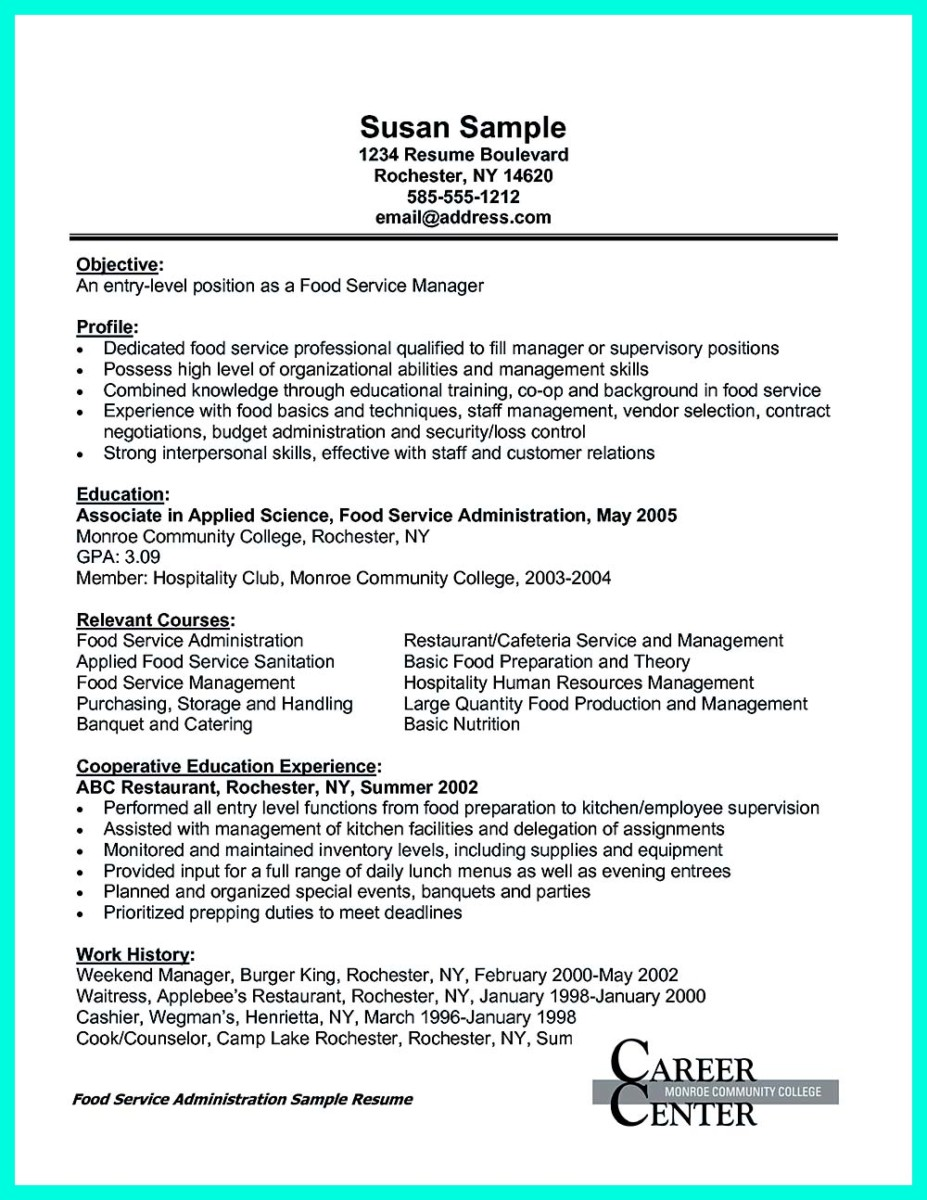 Attractive but simple catering manager resume tricks for Events manager job description template