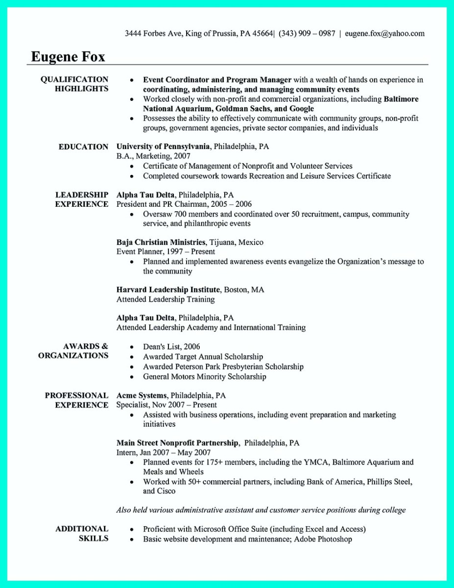 Attractive but Simple Catering Manager Resume Tricks