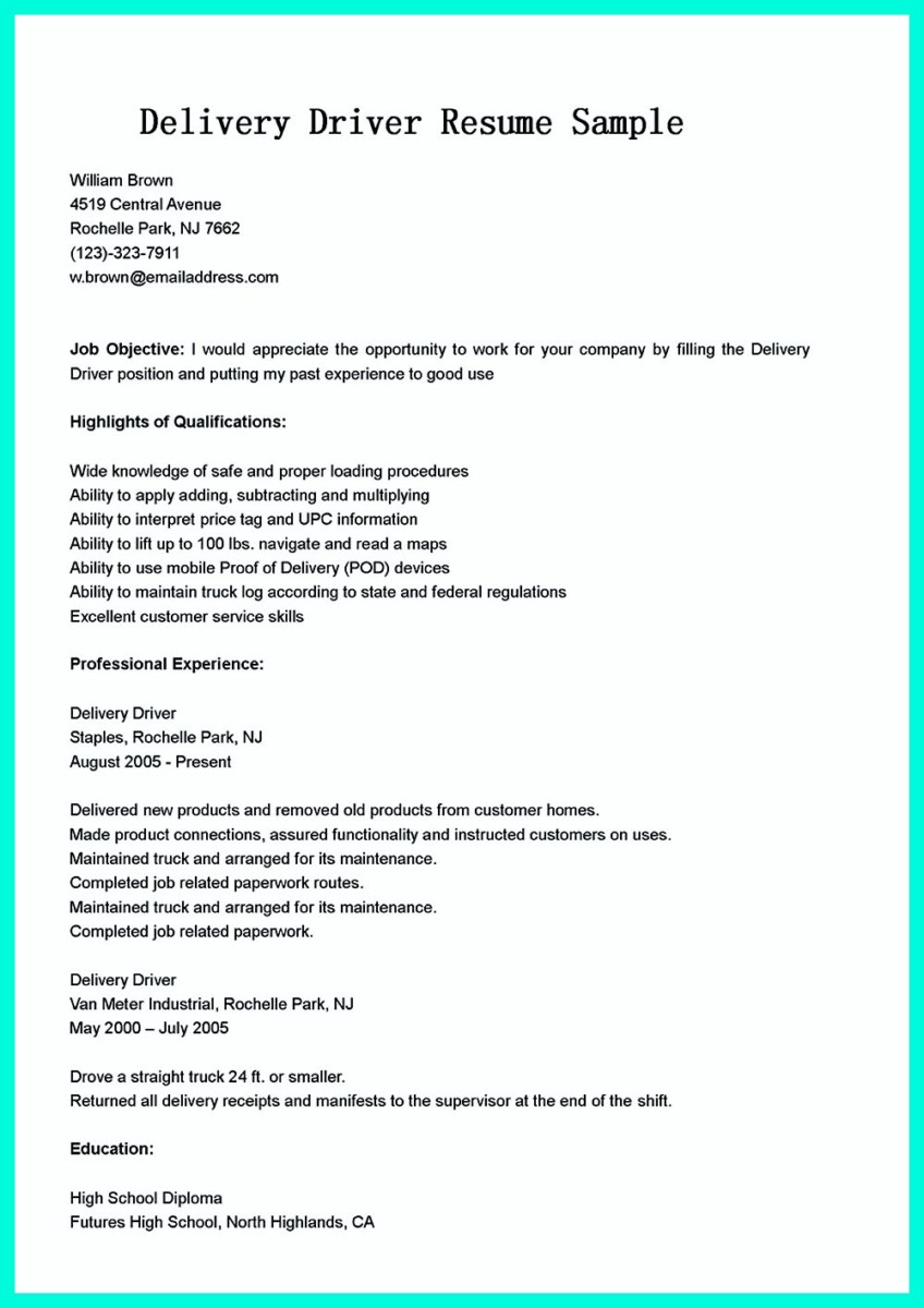 cdl bus driver resume