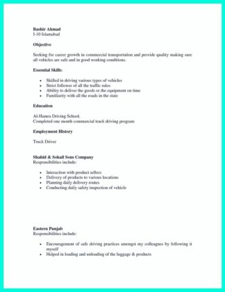 cdl driver resume examples and objective for cdl driver resume