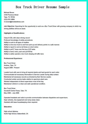 cdl driver resume objective samples and cdl driver laborer sample resume