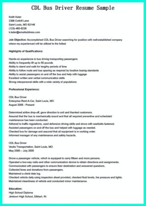 cdl driver resume template and cdl truck driving resume samples
