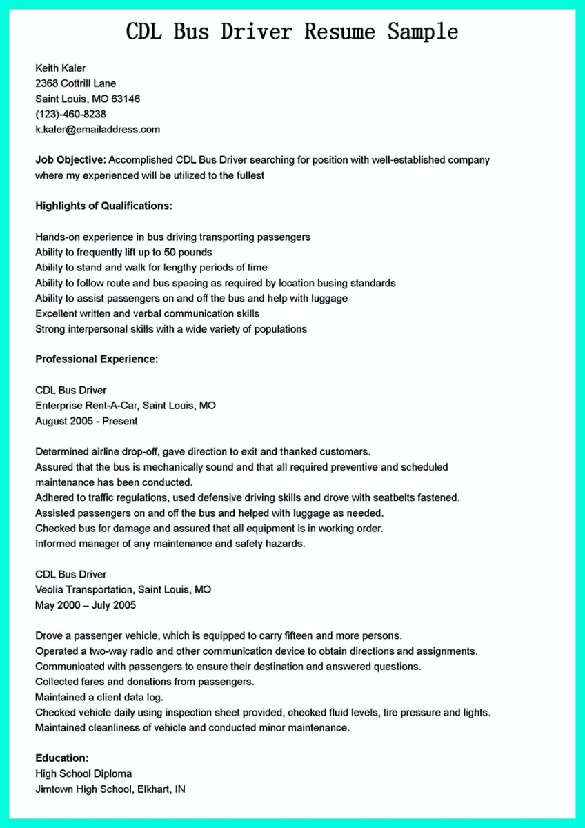 cdl driver resume template and cdl truck driving resume samples - Truck Driving Resume