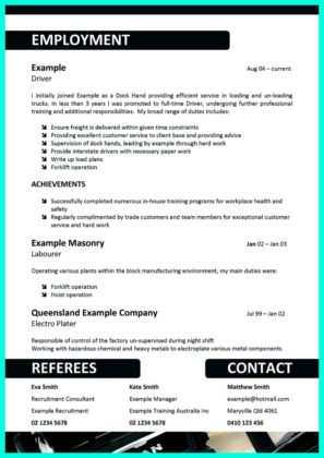 cdl truck driver resume and cdl bus driver resume sample