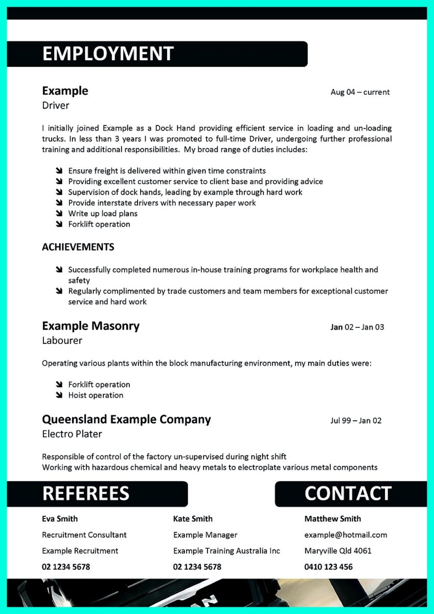simple but serious mistake in cdl driver resume