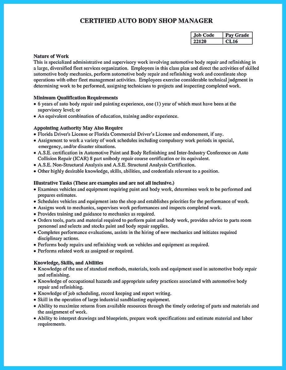 certified automotive technician resume_001