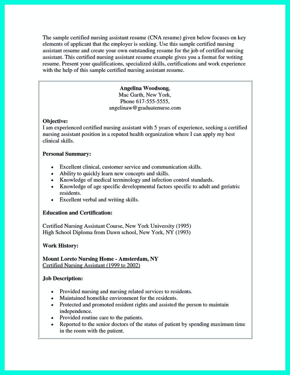 previous post - Sample Certified Nursing Assistant Resume