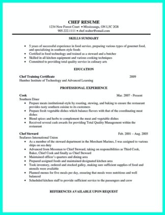 Executive Chef Resume Sample Resume For Operations Supply Chain