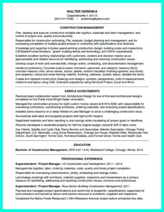 Simple Construction Superintendent Resume Example to Get Applied  %Image NameSimple Construction Superintendent Resume Example to Get Applied  %Image NameSimple Construction Superintendent Resume Example to Get Applied  %Image Name