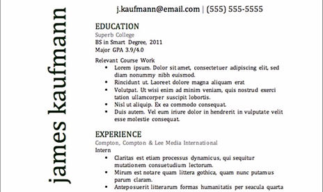 classic resume template download - Classic Resume Template