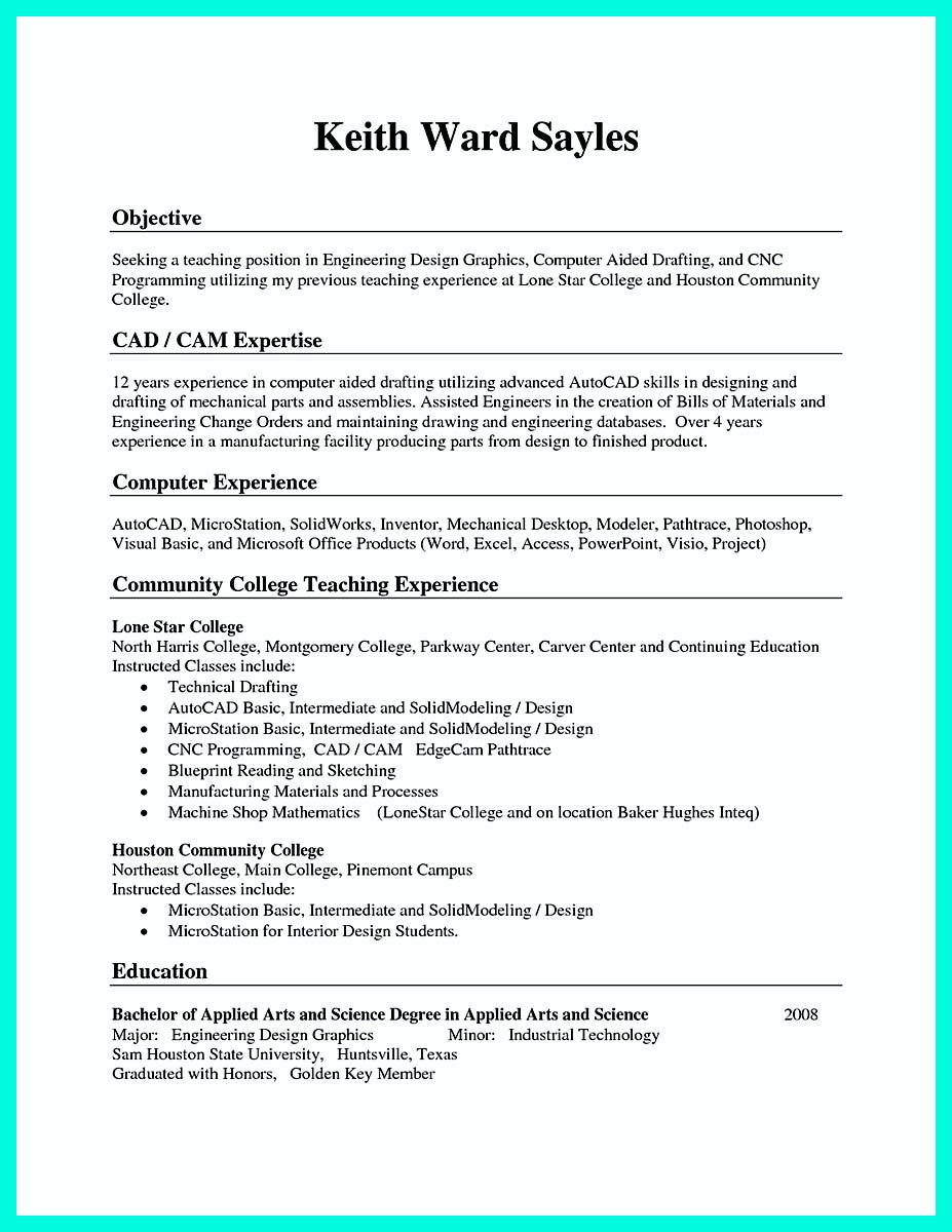 cnc machinist resume objective