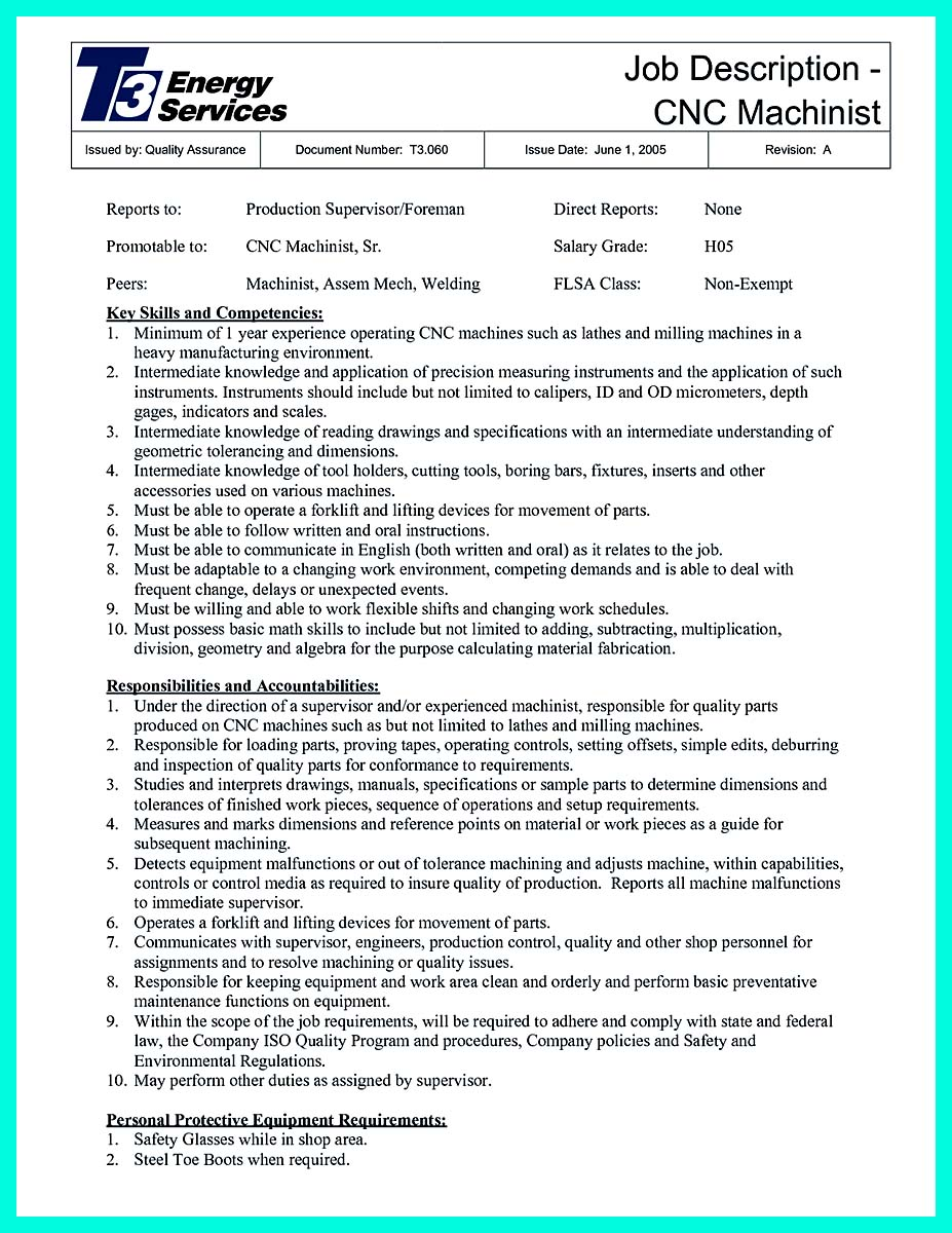 cnc machinist resume samples free_001