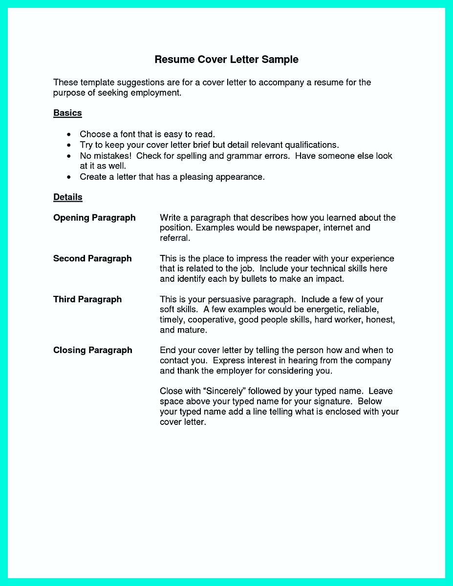 sample resume cover letters templates