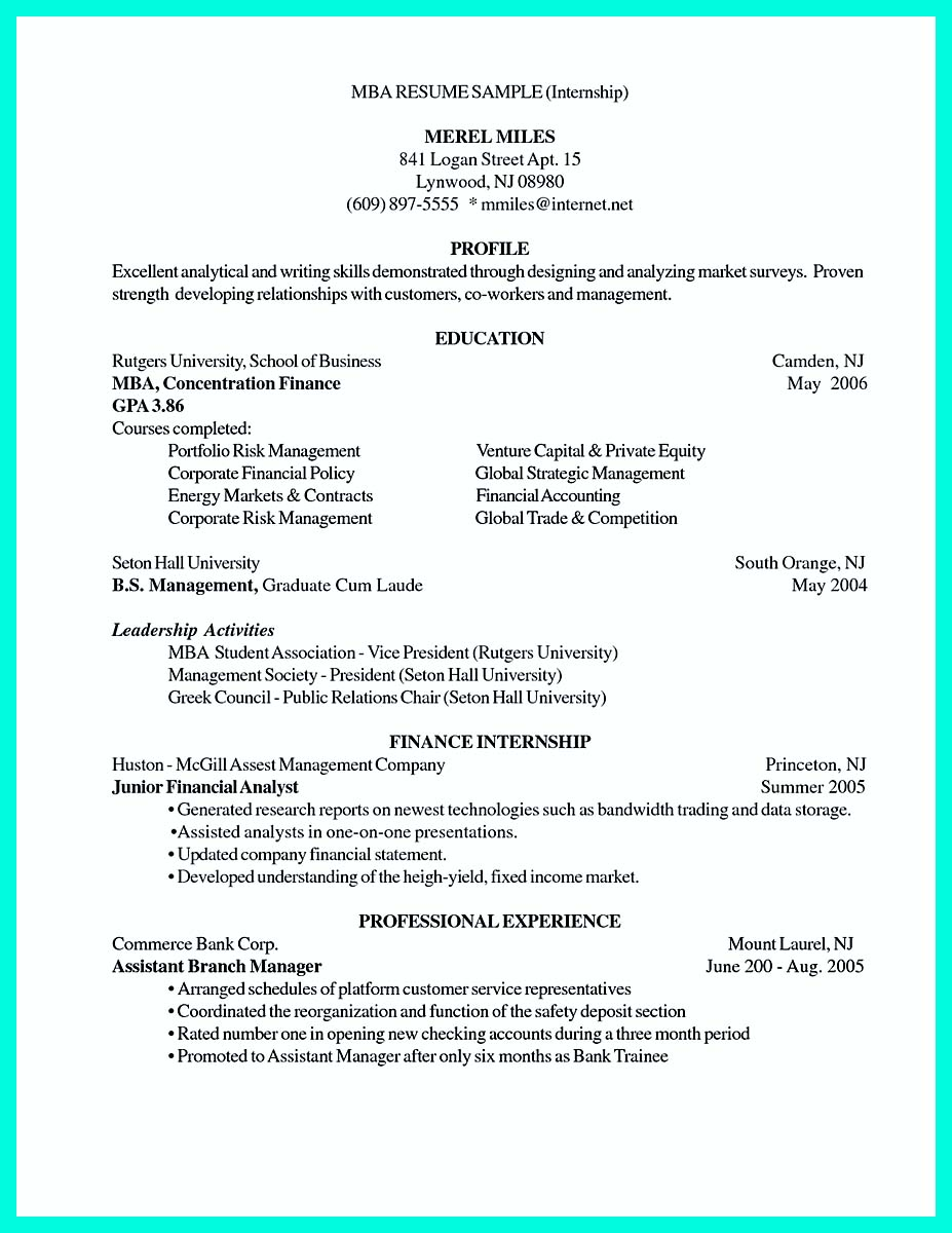 ... College Application Resume Sample ...  Rutgers Resume Builder