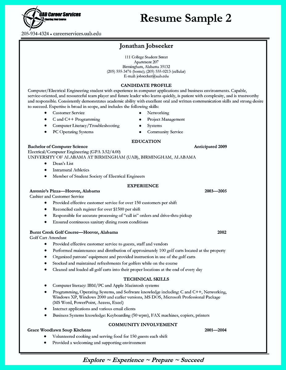 ... College Application Resume Template ...  High School Senior Resume For College