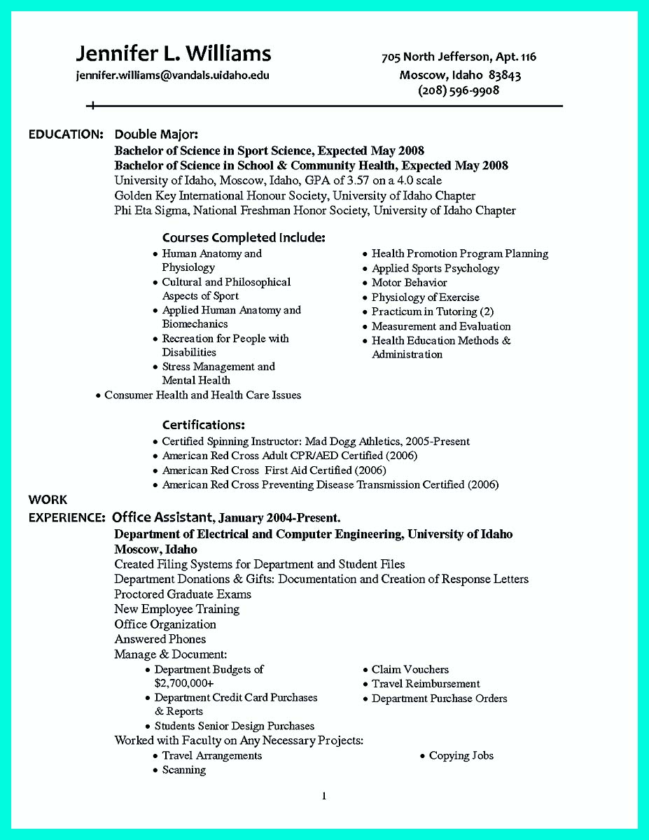 college golf resume template_001