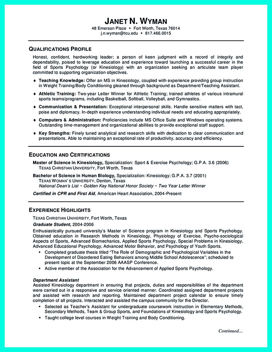 college graduate resume computer science