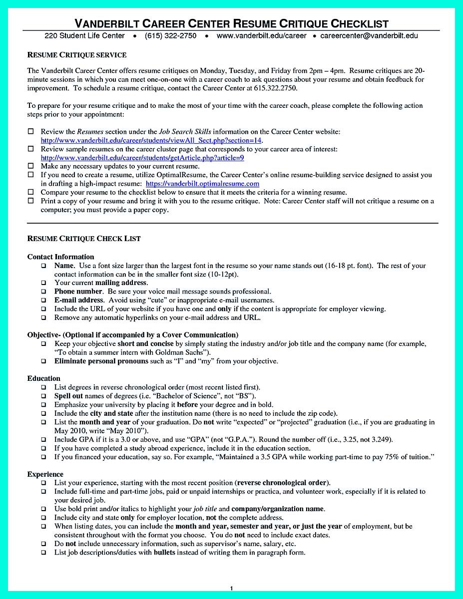 Cool Sample Of College Graduate Resume With No Experience
