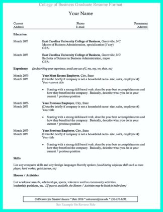 college graduate resume tips