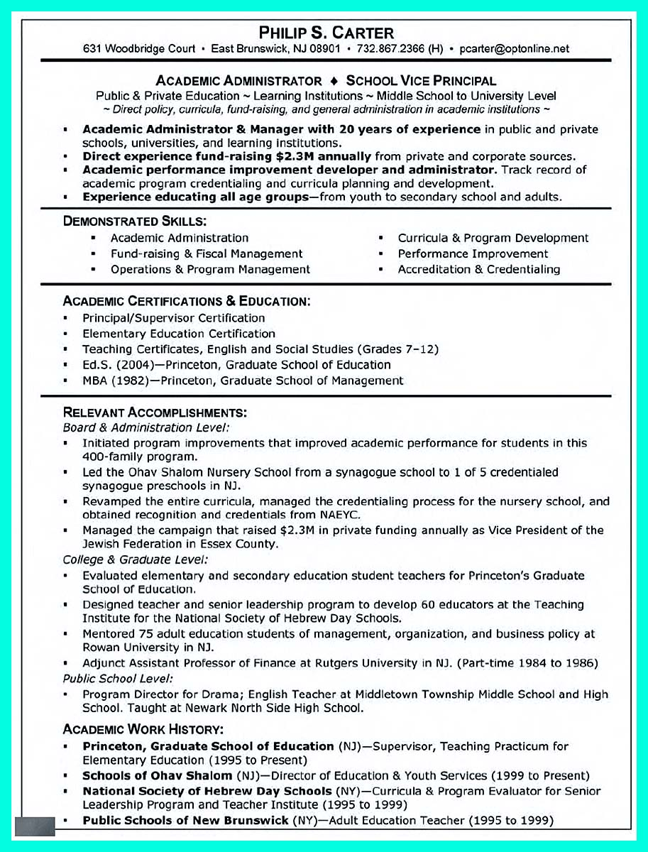 college resume template for college applications