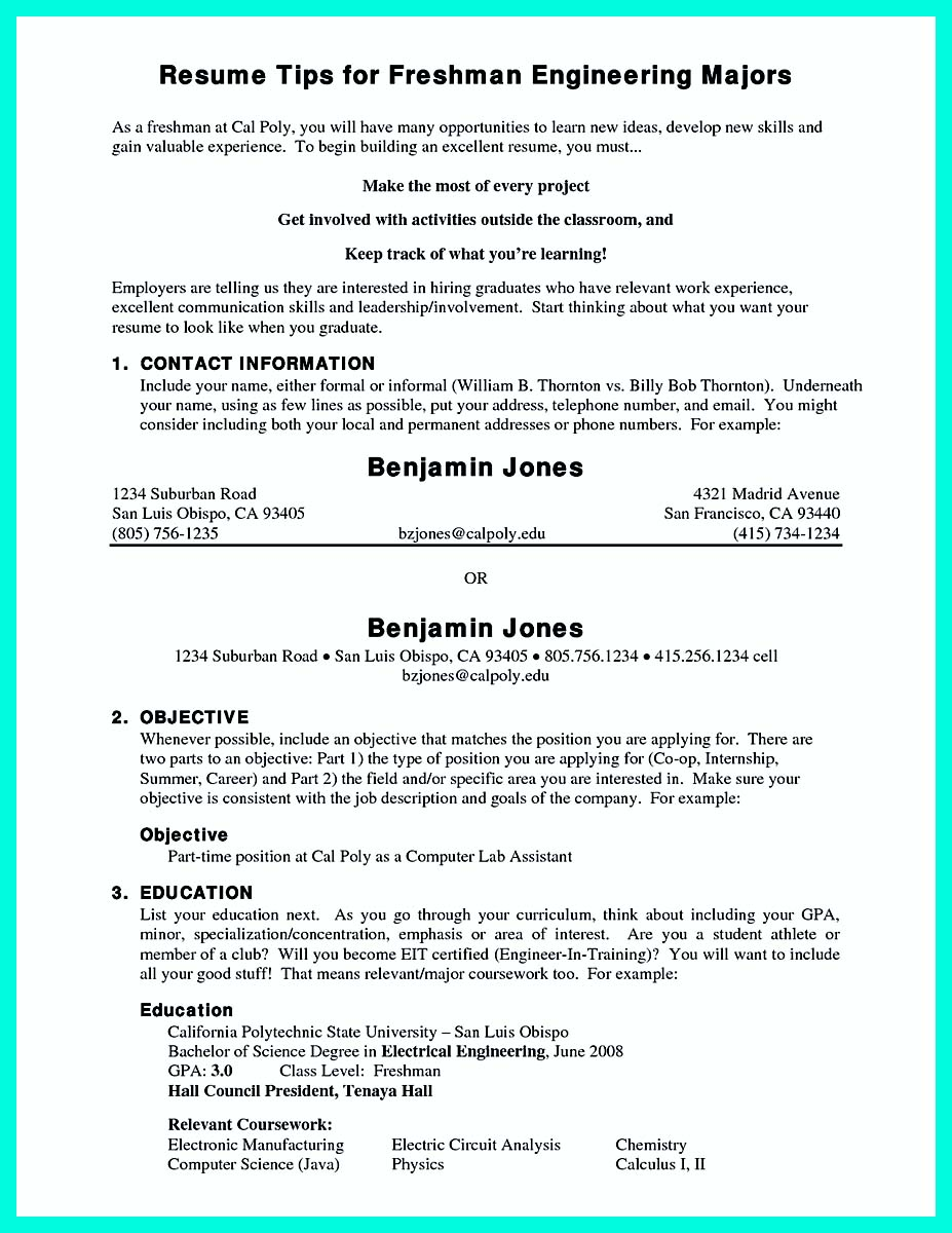 college resume template for high school seniors