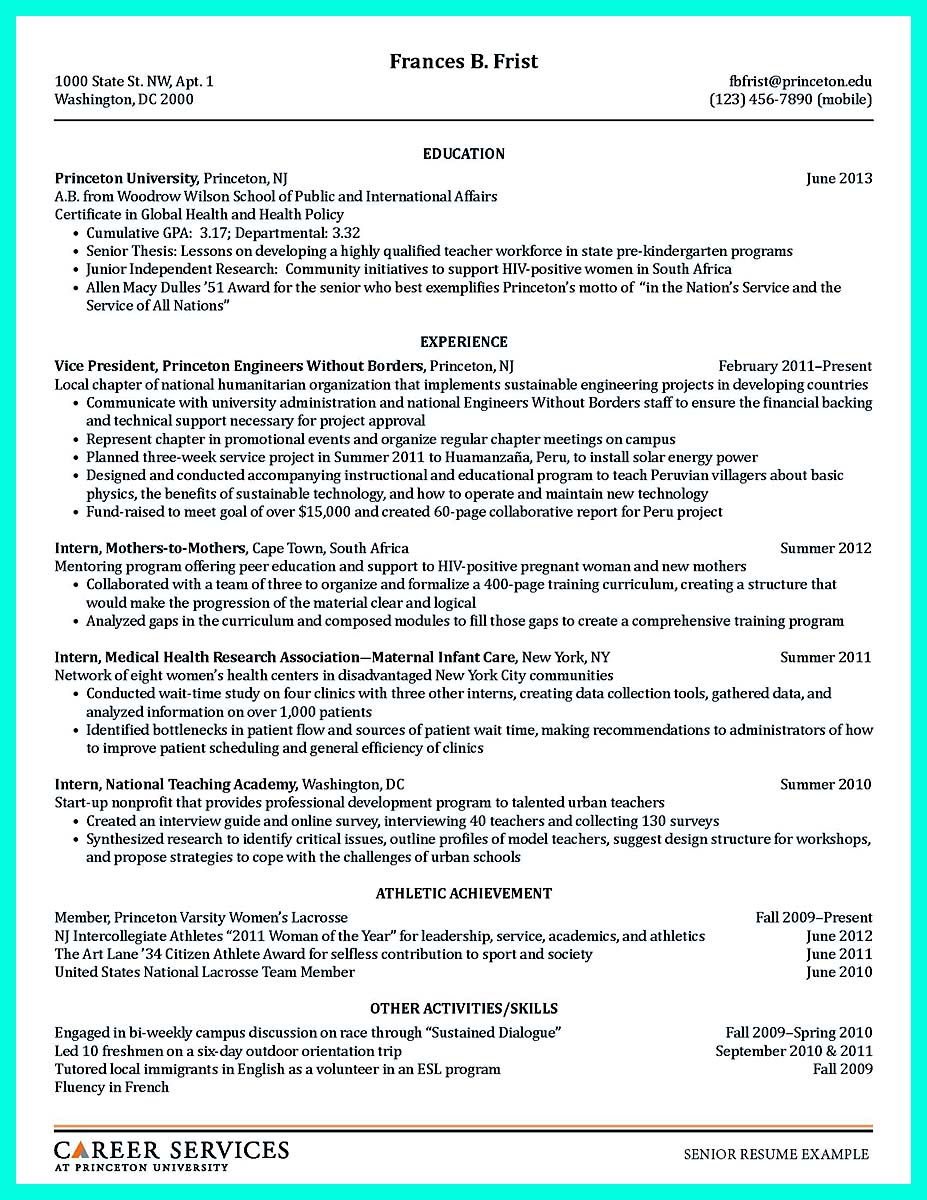 college resume template word free