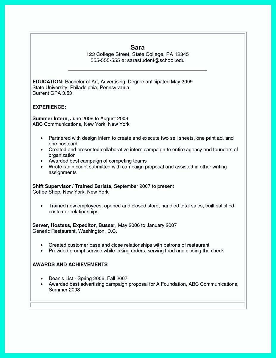 Student resume template microsoft word best college student resume the perfect college resume template to get a job altavistaventures