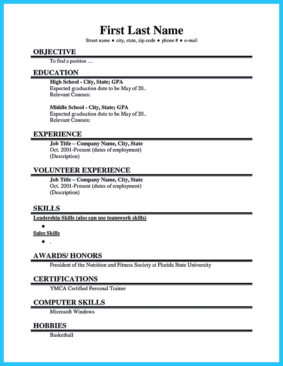 college student resume and cover letter - Student Job Resume Template