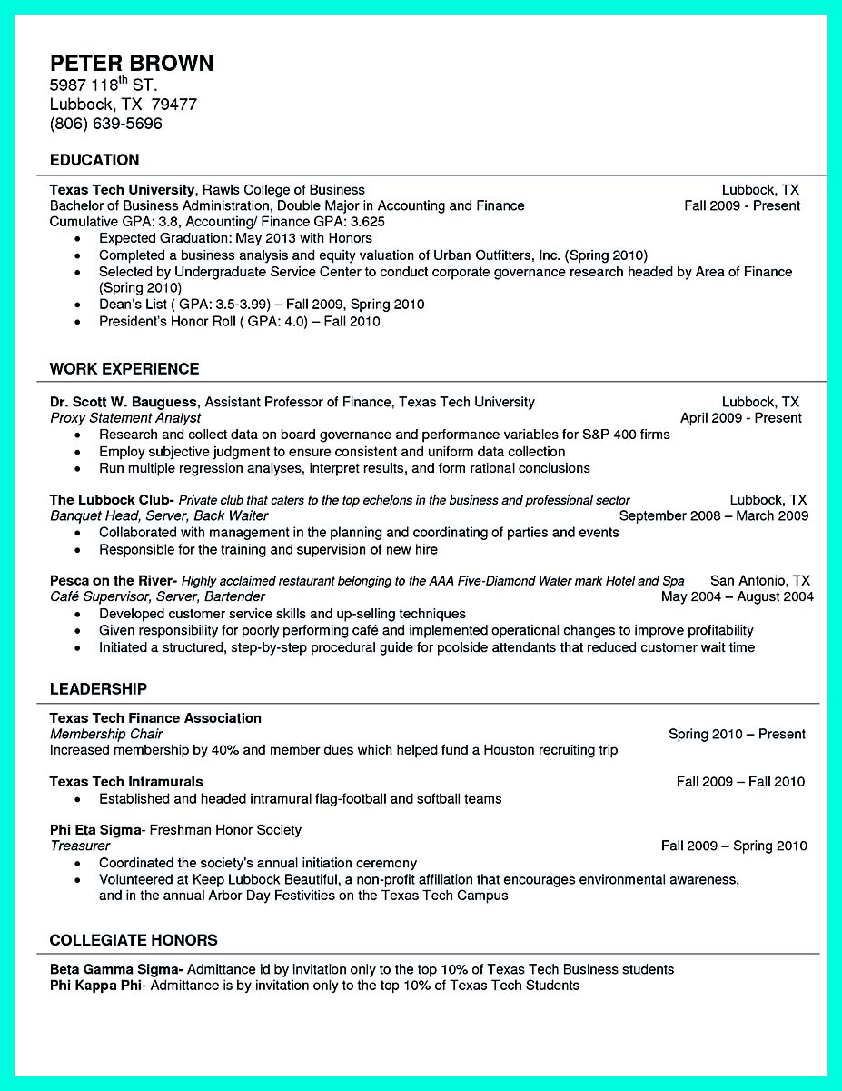 ... College Student Resume And Cover Letter ...  Best College Resume