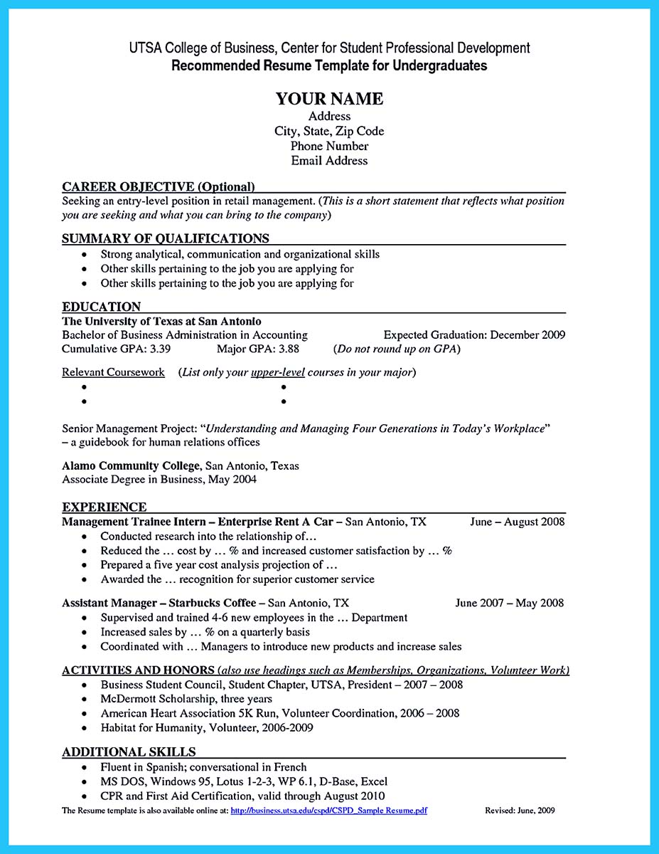 Resume Example Brefash