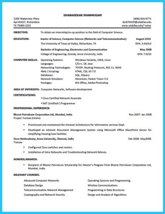 college student resume builder