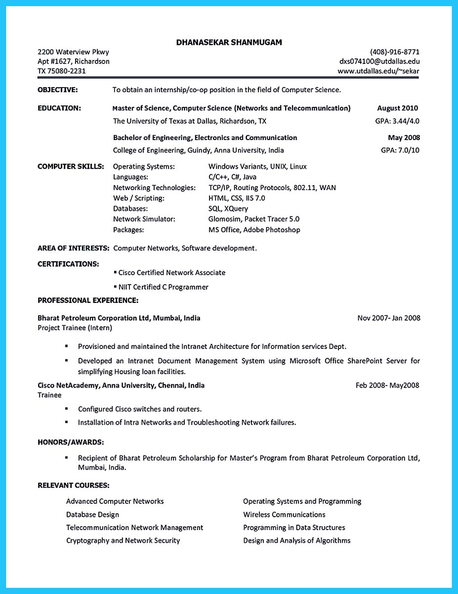 Best current college student resume with no experience for Academic resume builder