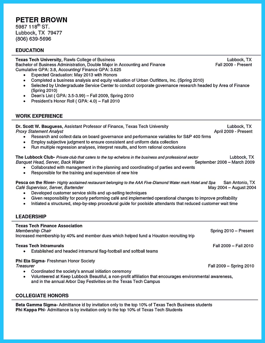 college resume skills - Selo.l-ink.co