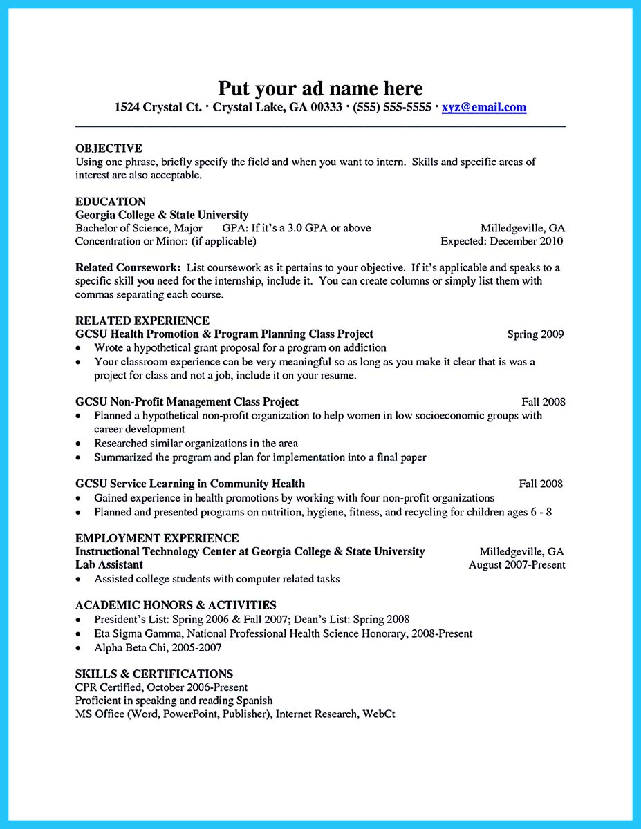 Examples Of Achievements For Student Resume